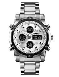 Недорогие -SKMEI Муж. электронные часы Цифровой Нержавеющая сталь Черный / Серебристый металл 30 m Защита от влаги Будильник Календарь Аналого-цифровые На каждый день Мода -