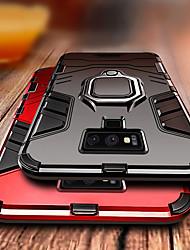halpa -Etui Käyttötarkoitus Samsung Galaxy Galaxy S10 / Galaxy S10 Plus / Galaxy S10 E Iskunkestävä / Sormuksen pidike Takakuori Panssari Kova PC varten S9 / S9 Plus / S8 Plus