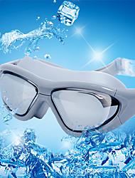 Недорогие -плавательные очки С защитой от ветра плавательные очки Противо-туманное покрытие На открытом воздухе Плавание Boyfriend Подарок силиконовый Резина Поликарбонат белый красный розовый