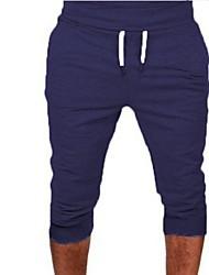 abordables -Hombre Deportivo Pantalones de Deporte Pantalones - Un Color Gris Oscuro