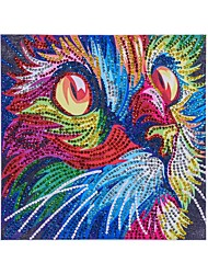 ieftine -Natură Statică Wall Decor Netesute Animal / European Wall Art, Pictură cu diamante Decor
