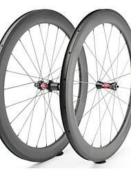 Недорогие -FARSPORTS 700CC Колесные пары Велоспорт 25 mm Шоссейный велосипед Углеродное волокно Клинчерная покрышка 20/24 Спицы 60 mm