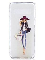 halpa -Etui Käyttötarkoitus Samsung Galaxy Galaxy S10 Plus / Galaxy S10 E Läpinäkyvä / Kuvio Takakuori Sexy Lady Pehmeä TPU varten S9 / S9 Plus / S8 Plus