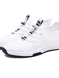 abordables -Homme Chaussures de confort Tissu élastique / Tissage Volant Printemps Sportif Chaussures d'Athlétisme Course à Pied Ne glisse pas Blanc / Noir