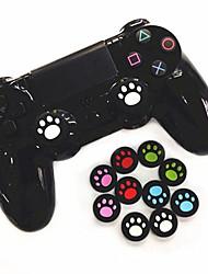 Недорогие -4-х частей игрового контроллера ручки джойстик крышка силиконовый материал мультфильм кошка коготь джойстик крышка