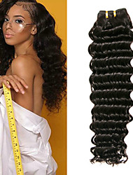 Недорогие -3 Связки Индийские волосы Крупные кудри Не подвергавшиеся окрашиванию 100% Remy Hair Weave Bundles Головные уборы Пучок волос Накладки из натуральных волос 8-28 дюймовый Естественный цвет