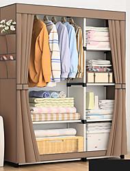 billige -diy enkle fold uvævede garderobe opbevaring organizer skab møbler kabinet soveværelse møbler forstærkning stuvet skab