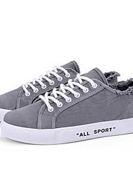 abordables -Homme Chaussures de confort Toile Eté Simple Basket Ne glisse pas Noir / Beige / Gris