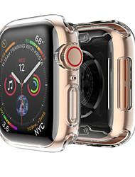 Недорогие -силиконовый чехол для apple watch band 4 44мм 40мм мягкая ультратонкая прозрачная рамка