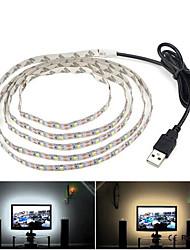 Недорогие -2м гибкие светодиодные полосы 120 светодиодов 3528 смд 6мм теплый белый / холодный белый самоклеящийся / ТВ фон 5 в 1шт