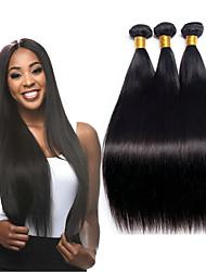 ราคาถูก -3 Bundles / กลุ่ม ผมพม่า Straight ผมเวอร์จิน 100% Remy Hair Weave Bundles มัดผม ผมต่อแท้ ผมผ้าที่มีการปิด 8-28 inch สีธรรมชาติ สานเส้นผมมนุษย์ ปาร์ตี้ ผู้หญิง มาใหม่ ส่วนขยายของผมมนุษย์ สำหรับผู้หญิง