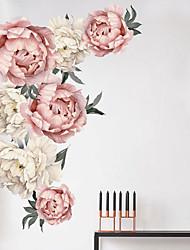 Недорогие -наклейки на красивые цветы на стенах - плоские наклейки на стену для транспортировки / кабинет / ландшафтный кабинет / столовая / кухня