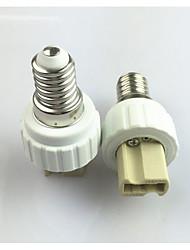 cheap -1pc E14  to G9 E14 100-240 V Converter Plastic Light Bulb Socket