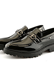 abordables -Homme Chaussures de confort Polyuréthane Printemps Simple Mocassins et Chaussons+D6148 Ne glisse pas Bloc de Couleur Noir / Rouge