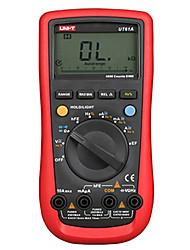 Недорогие -uni-t ut61a dmm цифровой мультиметр транзистор ncn тестер ручной измеритель напряжения вольт ом frq cd подсветка данных удержание амперметр тестер
