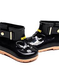 halpa -Tyttöjen Kengät PVC Kevät Comfort / Kumisaappaat Bootsit varten Lapset Musta / Persikka / Vaalea vaaleanpunainen / Säärisaappaat