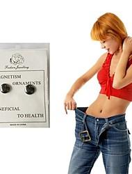 Недорогие -магнитные серьги для похудения для похудения патч похудеть магнитные ювелирные изделия здоровья магниты ленивый паста тонкий патч