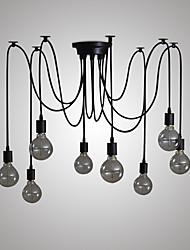 Недорогие -8-Light Люстры и лампы Рассеянное освещение Окрашенные отделки Металл Свеча Стиль 110-120Вольт / 220-240Вольт Лампочки не включены / E26 / E27