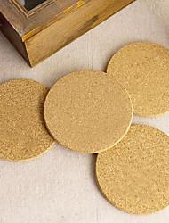 levne -6x korek dřevo pít čaj šálek kávy mat stůl stolní nádobí