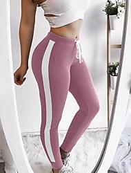 abordables -Femme Sportif Legging - Rayé Taille médiale