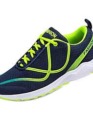 abordables -Homme Chaussures de confort Tissage Volant Printemps Simple Chaussures d'Athlétisme Course à Pied Respirable Bloc de Couleur Noir et blanc / Vert et Bleu