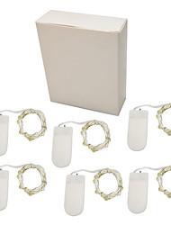billige -2m Lysslynger 20 lysdioder Varm hvid / Hvid / Multifarvet Fest / Ferie / Bryllup 5 V / Batterier Powered 6stk