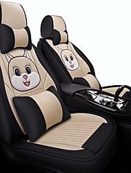 Недорогие -пять сидений / универсальный моторный чехол / автомобильная подушка мультфильм ткань весь комплект белья для сидения зима новый симпатичный шелковый лед четыре сезона специальный комплект сидений /
