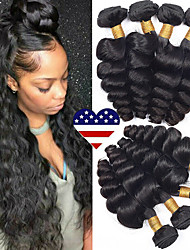 tanie -4 zestawy Włosy brazylijskie Luźne fale Włosy virgin Fale w naturalnym kolorze Doczepy Pakiet włosów 8-28 in Kolor naturalny Ludzkie włosy wyplata Bezzapachowy Najwyższa jakość Nowości Ludzkich