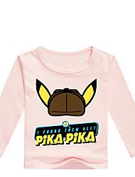 billige -Børn / Baby Drenge Basale Trykt mønster Trykt mønster Langærmet Bomuld / Spandex T-shirt Grå