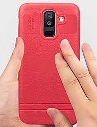 ราคาถูก -Case สำหรับ Samsung Galaxy A6+ (2018) Shockproof / Dustproof ปกหลัง สีพื้น Soft TPU สำหรับ A6+ (2018)