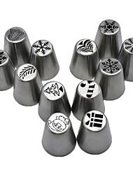 halpa -12kpl Ruostumaton teräs Creative Kitchen Gadget For Keittoastiat jälkiruoka Työkalut Bakeware-työkalut