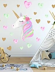Недорогие -творческий детский самоклеящийся мультяшный единорог с пвх декоративными стикерами на стену - стикеры на стену животных детская комната / детская