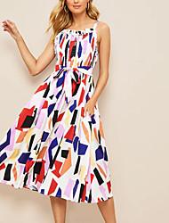 זול -מידי גיאומטרי - שמלה נדן מתוחכם אלגנטית בגדי ריקוד נשים