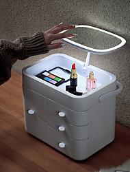 levne -led zrcadlo kosmetické skladování box vícevrstvý domácí skladování box toaletní stolek péče o pleť stojan