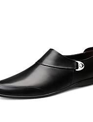 abordables -Homme Chaussures de confort Cuir Printemps / Eté Business / Classique Mocassins et Chaussons+D6148 Ne glisse pas Noir / Brun Foncé