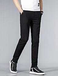 ieftine -Bărbați De Bază Pantaloni Chinos Pantaloni - Mată Negru