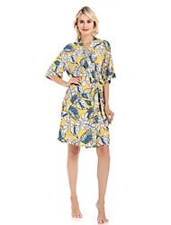 cheap -Women's Satin & Silk Nightwear - Print Floral