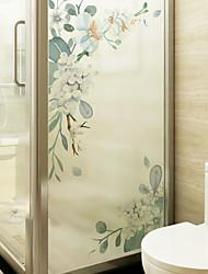 abordables -film de fenêtre de PVC amovible fleur& ampamp stickers décoration géométrique
