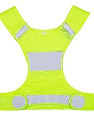 Недорогие -Светоотражающий жилет Ночное видение / Простота транспортировки / Прочный для Велосипедный спорт / Бег - Серебристый