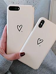 Недорогие -чехол для яблока iphone xr / iphone xs max шаблон задняя крышка сердце жесткий пк для мягкого тпу для iphone x xs 8 8plus 7 7plus 6 6s 6plus 6s plus