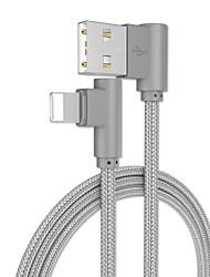 Недорогие -Подсветка Адаптер / Кабель 1.0m (3FT) Плетение / Быстрая зарядка Алюминий Адаптер USB-кабеля Назначение iPhone