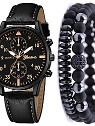 hesapli -Erkek Elbise Saat Quartz Deri Siyah / Kahverengi Hayır Kronograf Sevimli Yeni Dizayn Analog Yeni gelen Moda - Gül Altın Siyah / Gümüş Siyah / Gül Altın Bir yıl Pil Ömrü