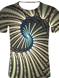 voordelige -Heren Rock / overdreven Print T-shirt Heelal / 3D / Grafisch Zwart XXL