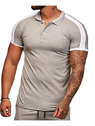 billige -Herre - Ensfarvet T-shirt Rød XL