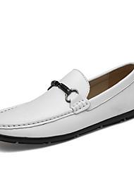 abordables -Homme Chaussures de confort Cuir Printemps / Eté Business / Classique Mocassins et Chaussons+D6148 Ne glisse pas Blanc / Noir / Brun Foncé