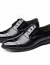 halpa -Miesten Comfort-kengät PU Kevät kesä Vapaa-aika Oxford-kengät Non-liukastumisen Musta