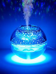 Недорогие -1 шт. Очиститель воздуха кристалл ночник проецируемый usb красочные огни 500 мл большой емкости распылитель воды очиститель воздуха увлажнитель детская комната мебель