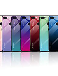 Недорогие -Кейс для Назначение Huawei Huawei Nova 3i / Huawei Nova 4 / P smart С узором Кейс на заднюю панель Слова / выражения / Градиент цвета Мягкий Закаленное стекло