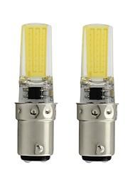 preiswerte -2pcs 3 W LED Doppel-Pin Leuchten 450 lm BA15D T 1 LED-Perlen COB Abblendbar Warmes Weiß Weiß 110/220 V