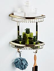 billige -Hylle til badeværelset Flerlags / Nytt Design Antikk / Land Messing 1pc - Baderom / Hotell bad Dobbel Vægmonteret